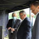 Od lewej Jan Urbanowicz, Dyrektor TDT, Andrzej Adamczyk, Minister Infrastruktury